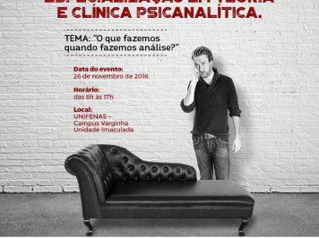 1º Simpósio de Psicanálise será realizado no dia 26 de novembro