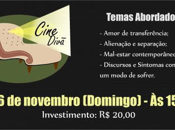 Nova edição do Cine Divã será neste domingo