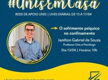 [Palestra-LIVE] O sofrimento psíquico no confinamento com o psicólogo e psicanalista Janilton