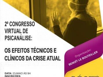 [Gratuito] 2º Congresso Internacional de Psicanálise refletirá sobre a Pandemia e terá trabalhos da França e Brasil