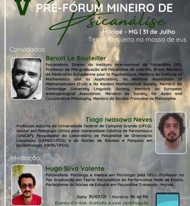 [EVENTO] V Pré-fórum Mineiro de Psicanálise