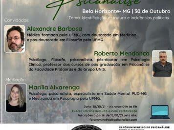[EVENTO] IX Pré-Fórum Mineiro de Psicanálise